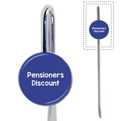 Pensioners Discount Sale Blue Book Mark