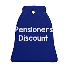 Pensioners Discount Sale Blue Ornament (bell) by Mariart