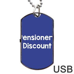 Pensioners Discount Sale Blue Dog Tag Usb Flash (one Side) by Mariart