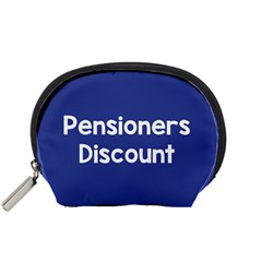 Pensioners Discount Sale Blue Accessory Pouches (small)  by Mariart