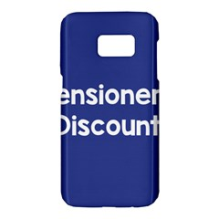 Pensioners Discount Sale Blue Samsung Galaxy S7 Hardshell Case  by Mariart