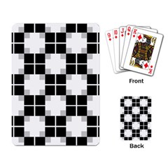 Plaid Black White Playing Card by Mariart