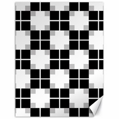 Plaid Black White Canvas 18  X 24   by Mariart