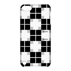 Plaid Black White Apple Ipod Touch 5 Hardshell Case With Stand by Mariart