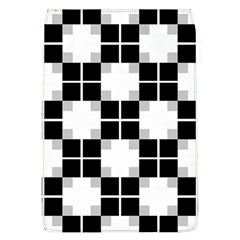 Plaid Black White Flap Covers (l)  by Mariart