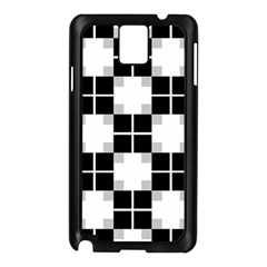 Plaid Black White Samsung Galaxy Note 3 N9005 Case (black) by Mariart