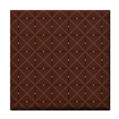 Coloured Line Squares Brown Plaid Chevron Tile Coasters by Mariart