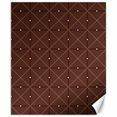 Coloured Line Squares Brown Plaid Chevron Canvas 8  X 10  by Mariart