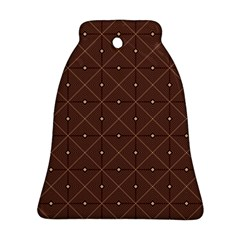 Coloured Line Squares Brown Plaid Chevron Ornament (bell) by Mariart