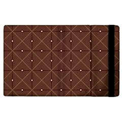 Coloured Line Squares Brown Plaid Chevron Apple Ipad 2 Flip Case by Mariart