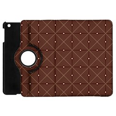 Coloured Line Squares Brown Plaid Chevron Apple Ipad Mini Flip 360 Case by Mariart