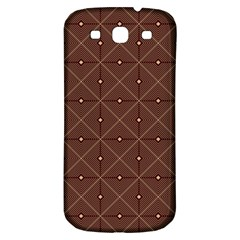 Coloured Line Squares Brown Plaid Chevron Samsung Galaxy S3 S Iii Classic Hardshell Back Case by Mariart