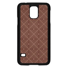 Coloured Line Squares Brown Plaid Chevron Samsung Galaxy S5 Case (black) by Mariart