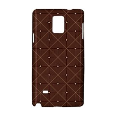 Coloured Line Squares Brown Plaid Chevron Samsung Galaxy Note 4 Hardshell Case by Mariart