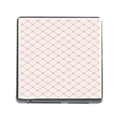 Plaid Star Flower Iron Memory Card Reader (square) by Mariart