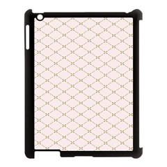Plaid Star Flower Iron Apple Ipad 3/4 Case (black) by Mariart