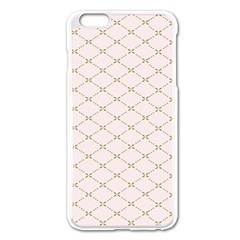 Plaid Star Flower Iron Apple Iphone 6 Plus/6s Plus Enamel White Case by Mariart