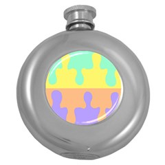 Puzzle Gender Round Hip Flask (5 Oz) by Mariart