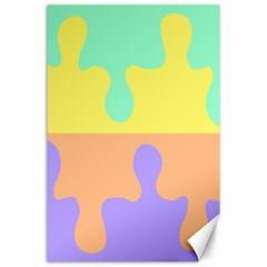 Puzzle Gender Canvas 24  X 36  by Mariart