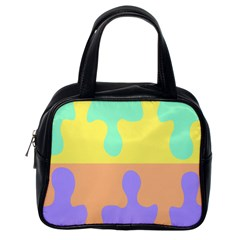 Puzzle Gender Classic Handbags (one Side) by Mariart