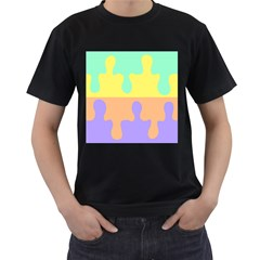 Puzzle Gender Men s T Shirt (black) by Mariart
