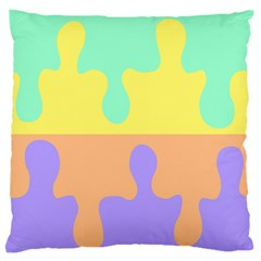 Puzzle Gender Large Flano Cushion Case (one Side) by Mariart