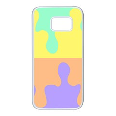 Puzzle Gender Samsung Galaxy S7 White Seamless Case by Mariart