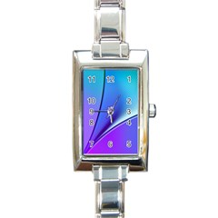 Line Blue Light Space Purple Rectangle Italian Charm Watch