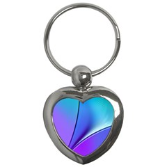 Line Blue Light Space Purple Key Chains (heart)  by Mariart