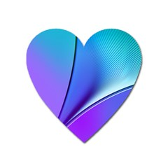 Line Blue Light Space Purple Heart Magnet by Mariart