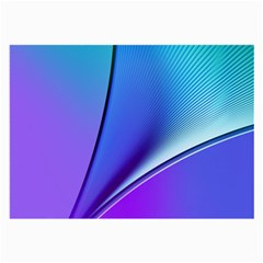 Line Blue Light Space Purple Large Glasses Cloth (2-side) by Mariart