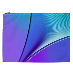 Line Blue Light Space Purple Cosmetic Bag (xxl)  by Mariart