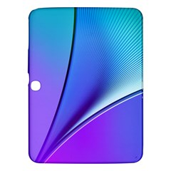 Line Blue Light Space Purple Samsung Galaxy Tab 3 (10 1 ) P5200 Hardshell Case  by Mariart