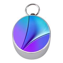Line Blue Light Space Purple Mini Silver Compasses by Mariart