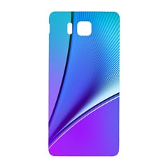 Line Blue Light Space Purple Samsung Galaxy Alpha Hardshell Back Case by Mariart