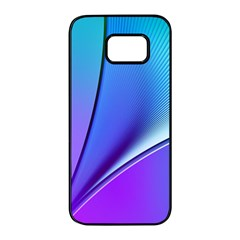 Line Blue Light Space Purple Samsung Galaxy S7 Edge Black Seamless Case by Mariart