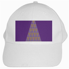 Pyramid Triangle  Purple White Cap by Mariart