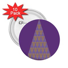 Pyramid Triangle  Purple 2 25  Buttons (10 Pack)