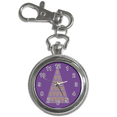 Pyramid Triangle  Purple Key Chain Watches by Mariart