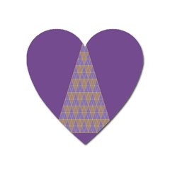 Pyramid Triangle  Purple Heart Magnet by Mariart