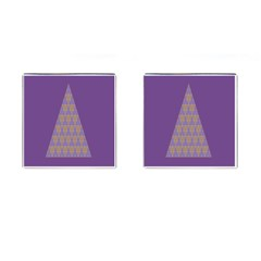 Pyramid Triangle  Purple Cufflinks (square) by Mariart