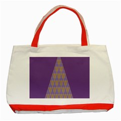 Pyramid Triangle  Purple Classic Tote Bag (red) by Mariart