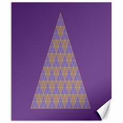Pyramid Triangle  Purple Canvas 20  X 24   by Mariart