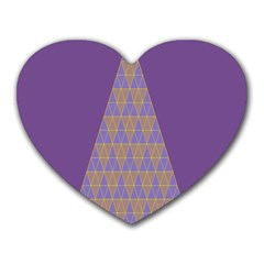 Pyramid Triangle  Purple Heart Mousepads by Mariart