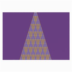 Pyramid Triangle  Purple Large Glasses Cloth (2 Side) by Mariart