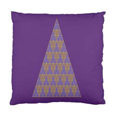Pyramid Triangle  Purple Standard Cushion Case (one Side) by Mariart