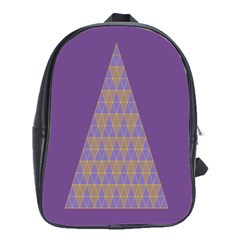Pyramid Triangle  Purple School Bags(large)