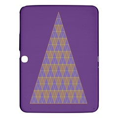 Pyramid Triangle  Purple Samsung Galaxy Tab 3 (10 1 ) P5200 Hardshell Case  by Mariart