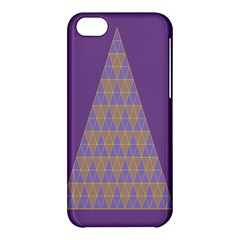 Pyramid Triangle  Purple Apple Iphone 5c Hardshell Case by Mariart