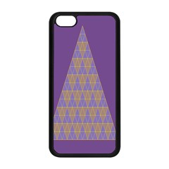 Pyramid Triangle  Purple Apple Iphone 5c Seamless Case (black) by Mariart